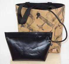 """NEUES MATERIAL 100% VEGAN"" SHOPPER"