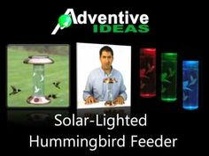 Solar powered hummingbird feeder attracts hummingbirds by day and puts on a light show at night.  #hummingbirdfeeder #lightshow #solarpowered