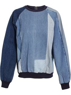 ASHISH Patchwork Denim Sweater