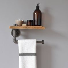 Are you interested in our bathroom towel rail and shelf? With our industrial pipe towel storage you need look no further.