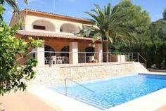 Villa à Benissa confortable et entièrement équipée avec vue sur le jardin et la piscine http://www.locationvillaespagne.com/benissa/denis-2/