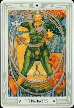 The Fool from the Thoth Tarot