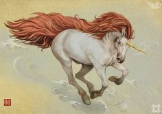 The Quan Shu or Lu Shu is an animal that looks like a horse. It has a red mane and tail and faint tiger stripes. It makes the sound of a man singing.