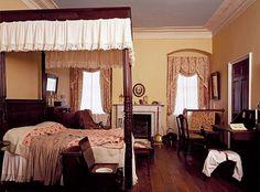 Arlington House ~ Arlington National Cemetery ~ Arlington ~ Virginia ~ A Bedroom in the Arlington House home of General Robert E. Lee.