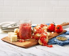 Water Bath Canning Recipe for Bruschetta in a Jar  ball jar - Ball Fresh Preserving Ball Canning Recipe, Canning Recipes, Canning 101, Tomato Bruschetta, Bruschetta Recipe, Pressure Cooker Chicken, Pressure Cooker Recipes, Pressure Cooking, Basil Recipes