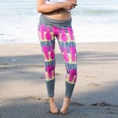 Salt Gypsy surf leggings - Brand New Brand new with tags Salty Gypsy pineapple surf leggings! These are great for workouts, swimming, surfing, or yoga! Foldover waistband, ties in back so they are out of the way when surfing. They look super cute with your Jolyn tops FYI! (Also listed on Merc - same username) Salt Gypsy Pants Leggings