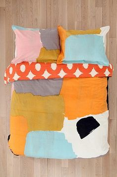 patch duvet cover and shams--Char-bea by Ashley G for Urban Outftters, via Flickr.