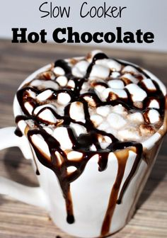 hot chocolate in the slow cooker - the best hot chocolate you will ever have