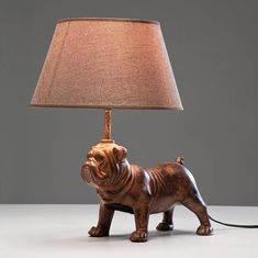 decorative pug table lamp by i love retro | notonthehighstreet.com