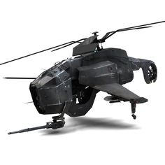 maya combine helicopter hunter chopper