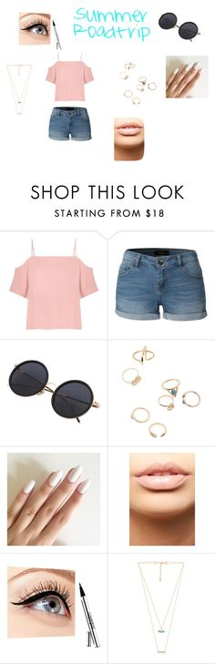 """Summer Roadtrip"" by coolpineapple-765 ❤ liked on Polyvore featuring T By Alexander Wang, LE3NO, MDMflow, Luminess Air and Wanderlust + Co"