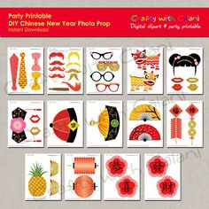 Chinese New Year Photo Booth Prop Instant by CraftywithCalani
