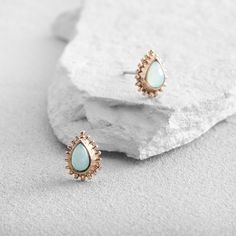 These luminous mint-hued teardrop studs are must-have staples for your jewelry collection. Wear them to meetings at the office or weekend gatherings in the park.