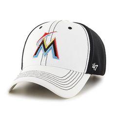 0155d91a7d418 Miami Marlins Cooler 47 MVP Adjustable Hat - White