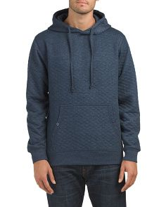 Heather Quilted Hoodie