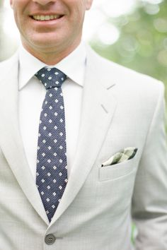Subtle Mixed Patterns:http://www.stylemepretty.com/2015/07/10/personalized-style-details-for-the-groom/