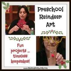 Reindeer art for toddlers and preschoolers | The SEEDS Network