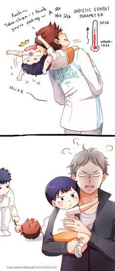 Iwaizumi & Oikawa & Kageyama & Sugawara | Haikyuu!! #anime