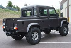 This Bonatti Gray 4.2-liter V8-powered crew cab Land Rover Defender is registered in Colorado as a 1963 Series II pickup and has just 2,500 miles on the build.