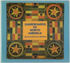 1986. Click on pin to see additional photos. Book: Antique American Game Boards Folk Art Painted Gameboards -1986 Exhibition