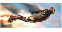 Marvel Studios Head of Visual Development Ryan Meinerding has shared some awesome Iron Man concept art revealing some very different takes on Tony Stark donning his armour. Comic Book Artists, Comic Book Characters, Comic Artist, Comic Books Art, Marvel Vs, Marvel Comics, Marvel Heroes, Iron Man Flying, Iron Man Fan Art
