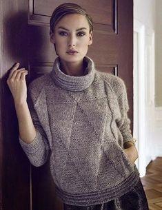 Knitwear Fashion, Knit Fashion, How To Purl Knit, Hand Knitted Sweaters, Knitting Designs, Hand Knitting, Knitting Patterns, Knit Crochet, Knits