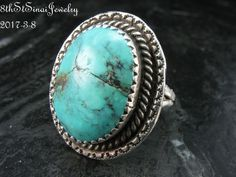 Estate Southwestern Sterling Silver 925 Turquoise Ring Size 7 #Unbranded #Statement