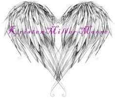 Amazing Angel Wings Back Tattoo