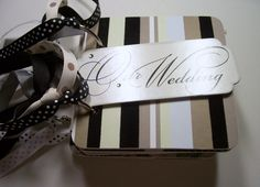 Wedding Mini Album is made from chipboard coasters covered with pretty patterned paper and measures 4x4 inches. It has 10 premade pages and the