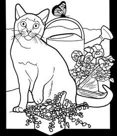 art on wood.ca.uk.  Pussy Cat Pattern