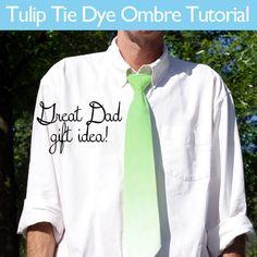 Ombre Tie tutorial