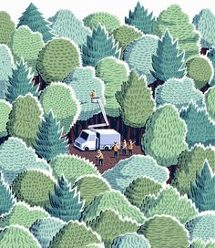 Jon McNaught making us wish we were camping out in a forest with this lovely scene.