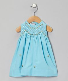 Take a look at this Blue Rosalyn Dress - Infant, Toddler & Girls by Sweet Dreams on #zulily today!