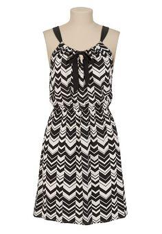 Chiffon Chevron Print Dress available at #Maurices