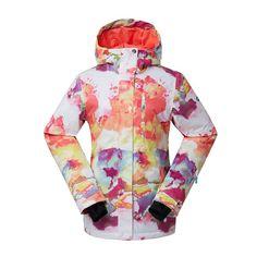 Gsou Snow Colorful High Waterproof Windproof Colorful Snowboard Jacket For  Women. Snowboarding WomenSki JacketsSnow ... 76d5f7b82