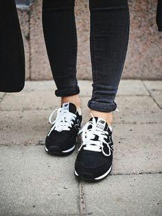 Black + white New Balance.