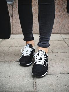 Black + white New Balance.