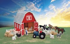 Mary Maximís colorful Barn Yard plastic canvas set will provide hours of fun playtime for children or make a cute display for collectors. The 3-dimensional classic red barn (15 x 11 x 13 inches) is stitched with medium weight yarn on 7-mesh plastic canvas and finished outside and inside. The barn doors open wide for easy access in displaying the 23 accessory pieces, also made using 7-mesh plastic canvas. Plastic Canvas Pattern (aff link)