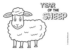 Year of sheep coloring pages for kids, Chinese new year coloring page printable free Korean Crafts, Chinese New Year Crafts, Happy Chinese New Year, New Year Coloring Pages, Coloring Pages For Kids, Korean New Year, Chinese New Year Decorations, Little Cherubs, New Year's Crafts