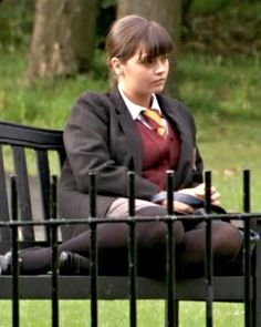 """A """"tie"""" score - Nine years ago this week, Jenna Coleman was channeling her inner """"tough girl"""" as she took on the role of troubled student Lindsay James in BBC One's Waterloo Road. Although Jenna was. English Actresses, British Actresses, Victoria 2016, Celebrities In Stockings, Dancing On The Edge, Waterloo Road, Julian Fellowes, Cute School Uniforms, Cute Dress Outfits"""