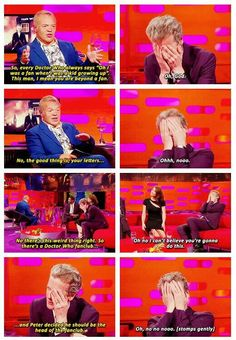 Graham Norton reveals how big of a fan Peter Capaldi was growing up. Priceless!