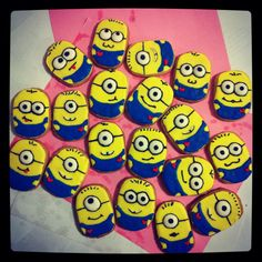 My very first minion cookies Minions Birthday Theme, Minion Theme, Minion Party, 3rd Birthday Parties, Birthday Ideas, Cute Cookies, Sugar Cookies, Cookie Designs, Cookie Ideas