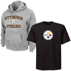 Big   Tall Pittsburgh Steelers Tee   Hoodie Set  72.00 0f07ddf89