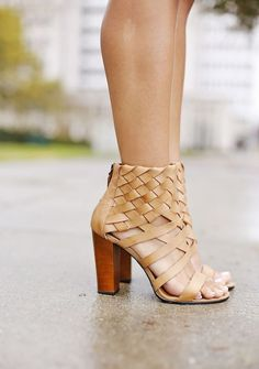 love these tan booties for summer