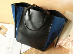 4 color Large Leather Tote Bag-Shopper-Ipad-MacBook Bag / Shoulder Bag Women Leather Satchel /Briefcase Bag handbag/purse/handbags Bags BB42. $89.99, via Etsy.