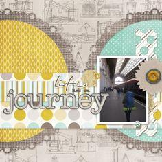 Life is a Journey layout by Marisa Lerin   Pixel Scrapper digital scrapbooking