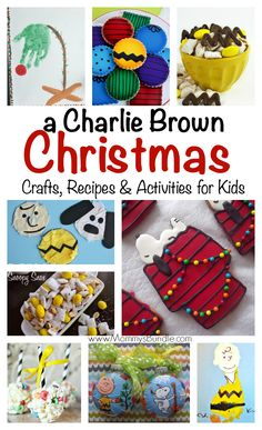 Charlie Brown Christmas Crafts & Foods: A fun way to celebrate the holidays with Charlie Brown & Peanuts fans. Includes kid crafts, activities and yummy food ideas for a holiday party!