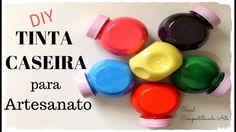 DIY Tinta caseira para artesanato usando apenas 3 cores - Dica econômica - YouTube Decoupage, E Craft, Acrylic Pouring, Diy Videos, Fun Desserts, Nespresso, 3 D, I Am Awesome, Diy And Crafts