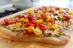 Pizza Ree-A. Amazing! Great as a thin crust pizza, especially when you drizzle the balsamic juices just before eating. Serve with a hearty salad like how sweet eats's bacon, corn, feta, tomato and avocado salad with balsamic dressing