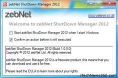Tăng tốc tắt máy Windows 8 với zebNet Shutdown Manager 2012